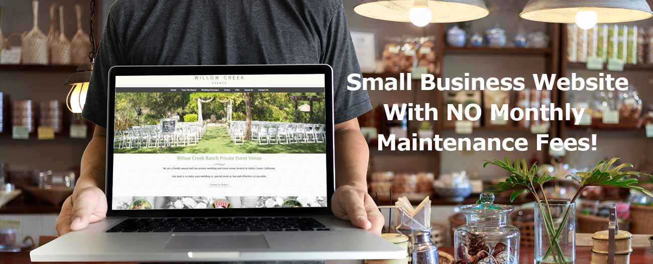 Small Business Website with NO Monthly Maintenance Fees