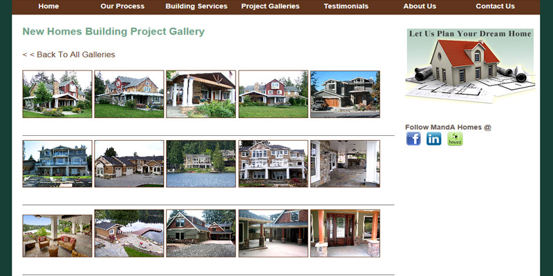 Contractor Website Design. Show Off With Large Photo Galleries. Part 50